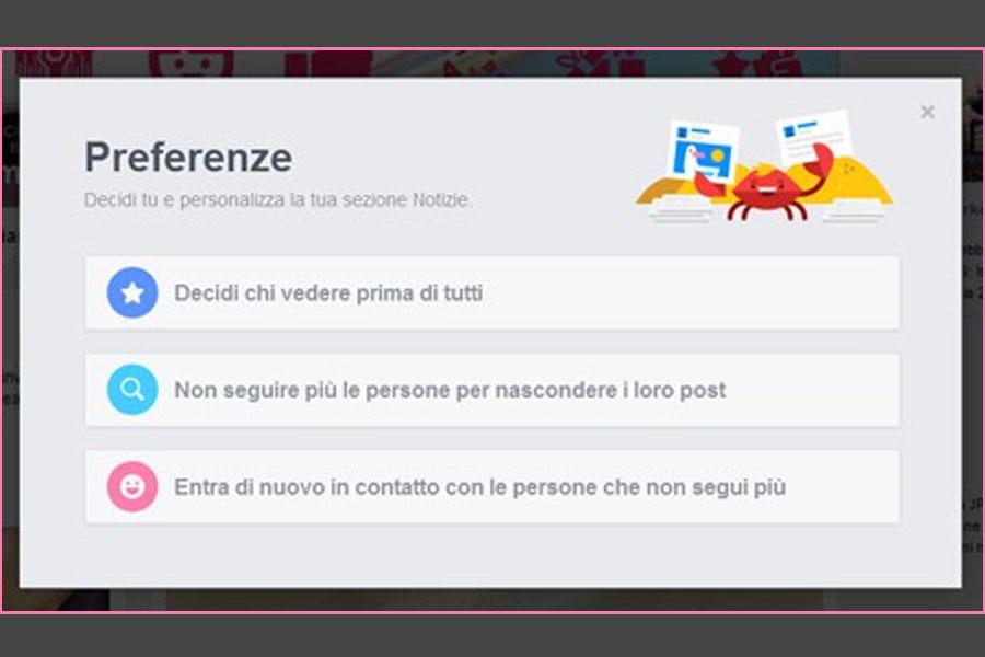 Personalizza la Timeline di Facebook: scegli tu chi e cosa leggere.